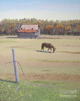 Grazing At Peace Poster by Norm Starks