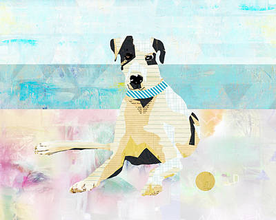 Great Dane At The Beach Poster