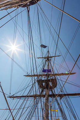 Poster featuring the photograph Great Day To Sail A Tall Ship by Dale Kincaid