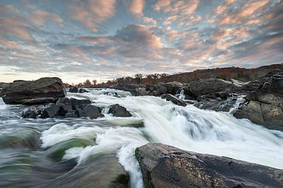 Great Falls Sunrise Over The Potomac River Poster by Mark VanDyke