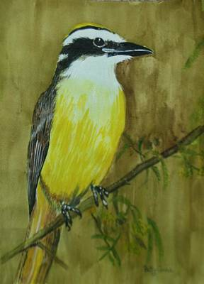 Poster featuring the painting Great Kiskadee by Betty-Anne McDonald
