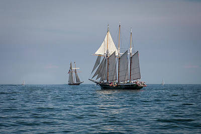 Great Lake Sailing With The Tall Ships Poster by Jack R Perry