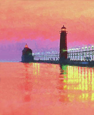 Great Lakes Light Poster by Dennis Cox WorldViews