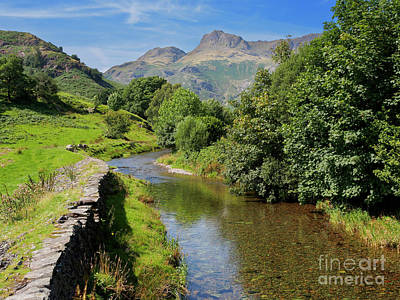 Great Langdale Beck With Harrison Stickle And Pike Of Stickle Poster by Louise Heusinkveld