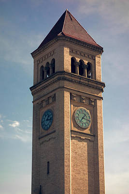 Great Northern Railway Clock Tower - Spokane Poster by Daniel Hagerman