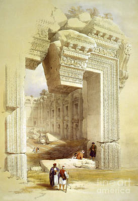 Great Portal, Temple Of Bacchus Poster by Science Source