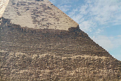 Poster featuring the photograph Great Pyramid Of Giza by Silvia Bruno