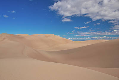 Great Sand Dunes Under A Blue Sky Poster
