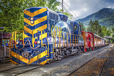 Great Smoky Mountain Railroad Poster by Debra and Dave Vanderlaan