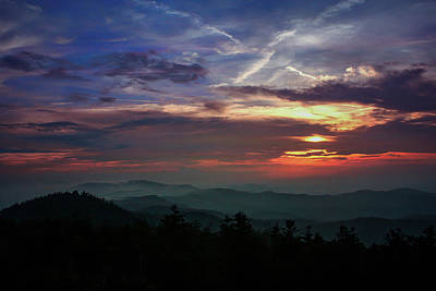 Poster featuring the photograph Great Smoky Sunsets by Jessica Brawley