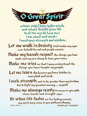 Great Spirit Prayer Poster