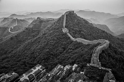 Poster featuring the photograph Great Wall 2, Jinshanling, 2016 by Hitendra SINKAR