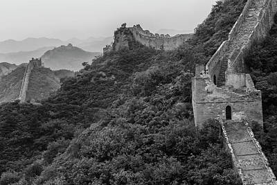 Poster featuring the photograph Great Wall 3, Jinshanling, 2016 by Hitendra SINKAR