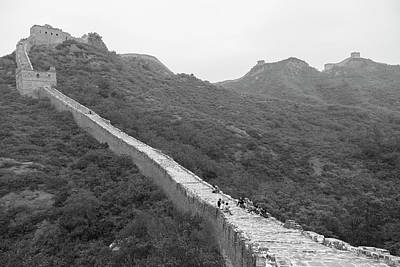 Poster featuring the photograph Great Wall 4, Jinshanling, 2016 by Hitendra SINKAR