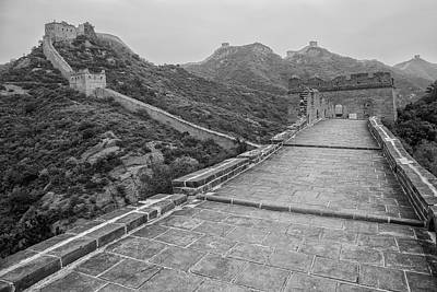 Poster featuring the photograph Great Wall 5, Jinshanling, 2016 by Hitendra SINKAR