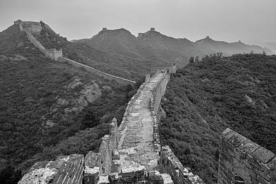 Poster featuring the photograph Great Wall 6, Jinshanling, 2016 by Hitendra SINKAR