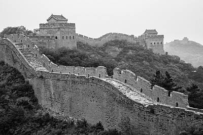 Poster featuring the photograph Great Wall 8, Jinshanling, 2016 by Hitendra SINKAR
