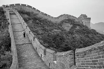 Poster featuring the photograph Great Wall 9, Jinshanling, 2016 by Hitendra SINKAR