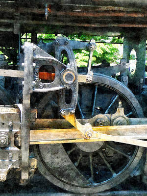 Great Western 90 Wheel Closeup Poster