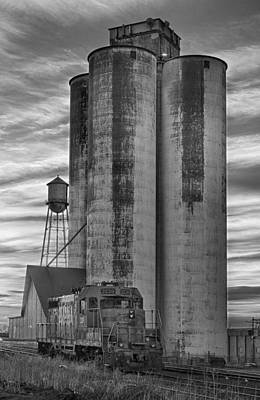 Great Western Sugar Mill Longmont Colorado Bw Poster by James BO  Insogna