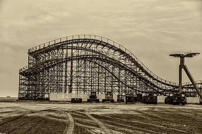 Great White Roller Coaster In Wildwood New Jersey Poster by Bill Cannon