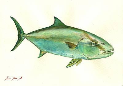 Greater Amberjack Fish Poster