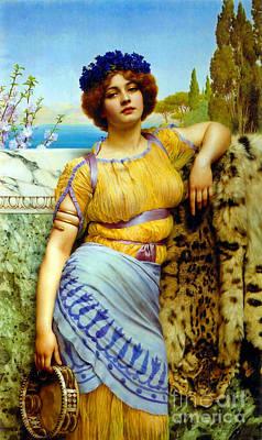 Greek Dancing Girl 1902 Poster by Padre Art