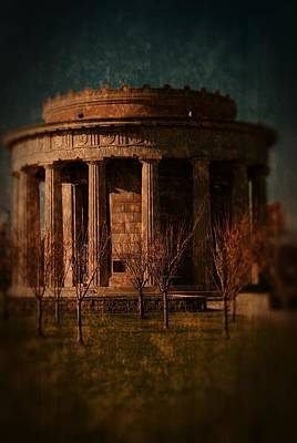 Greek Temple Monument War Memorial Poster by Angie Tirado