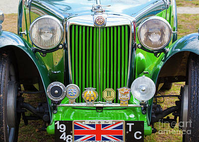 Poster featuring the photograph Green 1948 Mg Tc by Chris Dutton