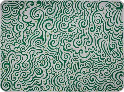 Green Abstract Poster by Mandy Shupp