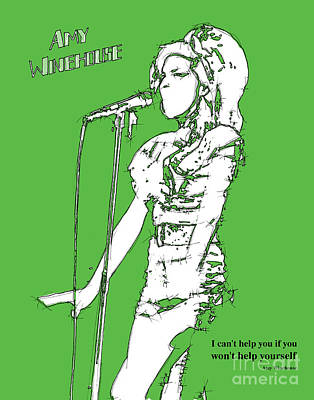 Green Amy Poster by Pablo Franchi