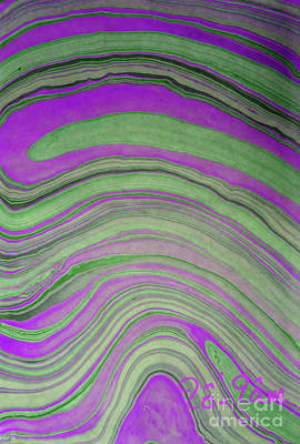 Green And Violet Abstract Poster