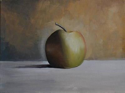 Green Apple Poster by Martin Schmidt