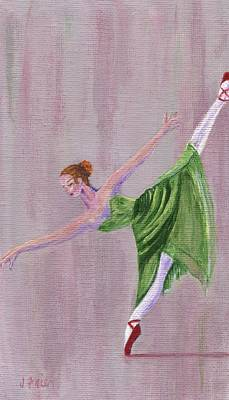 Poster featuring the painting Green Ballerina by Jamie Frier
