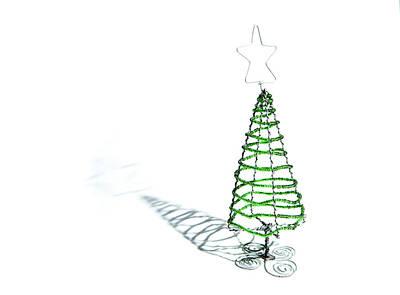 Green Bead Christmas Tree II Poster