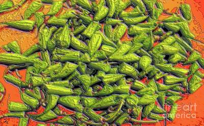 Green Bean Tips Poster by Ron Bissett