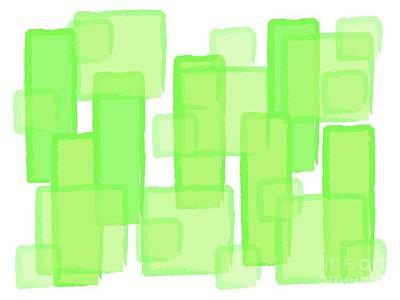 Green Boxes  Poster by Prar Kulasekara