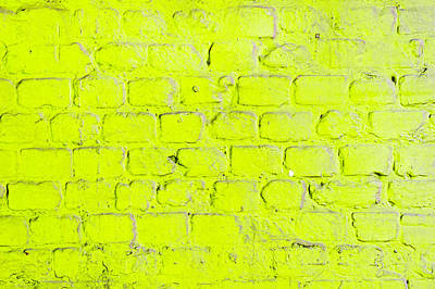 Green Brick Wall Poster by Tom Gowanlock
