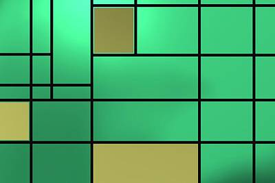 Green Cool Composition Poster