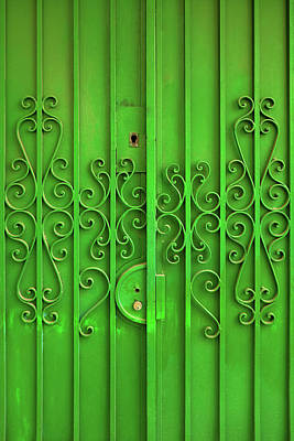 Poster featuring the photograph Green Door by Carlos Caetano