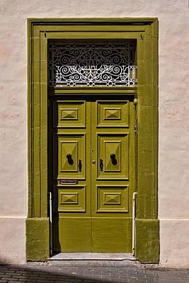 Green Door  Poster by Joerg Lingnau