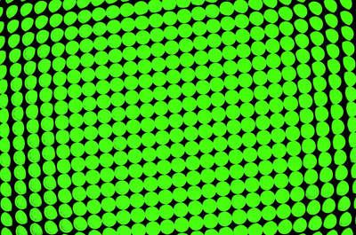 Green Dots Background Poster