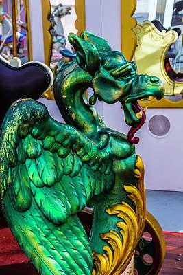 Green Dragon Carrousel Ride Poster