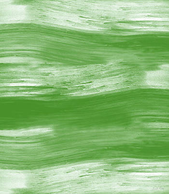 Green Drift- Abstract Art By Linda Woods Poster by Linda Woods