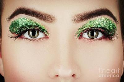 Green Eye Cosmetics Poster by Aleksey Tugolukov