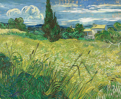 Green Field Poster by Vincent van Gogh