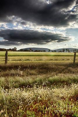 Poster featuring the photograph Green Fields 6 by Douglas Barnard