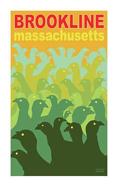 Green Fields Of Brookline Poster