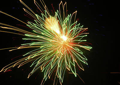Green Fireworks Poster by Laura Catherine