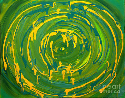 Green Forest Swirl Poster